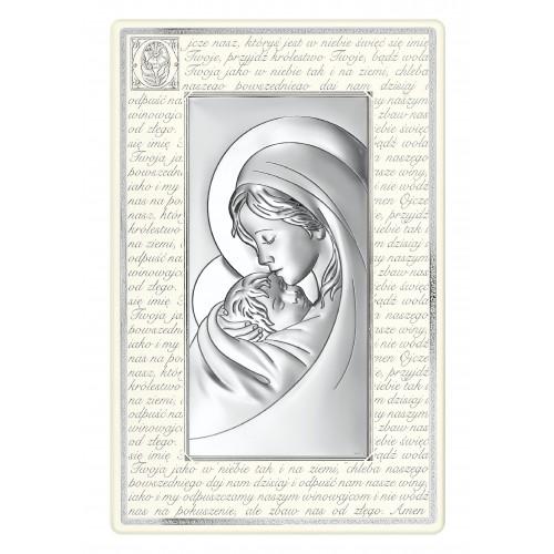 Obrazek srebrny Madonna - Ojcze Nasz 6381P/3N