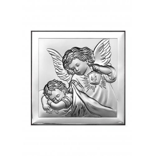 Obrazek srebrny  Aniołek z latarenką 6387/2