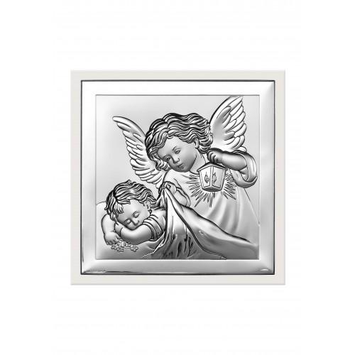 Obrazek srebrny  Aniołek z latarenką 6387/2W