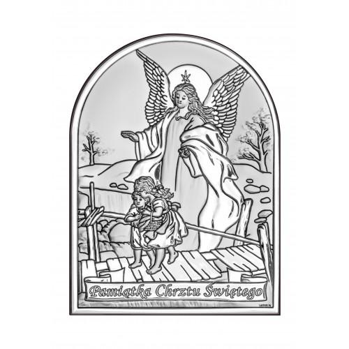 Obrazek srebrny  Anioł na kładce 6408/4