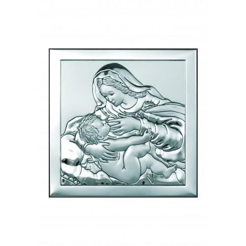 Obrazek srebrny  Matka Boska Karmiąca 6429/2X