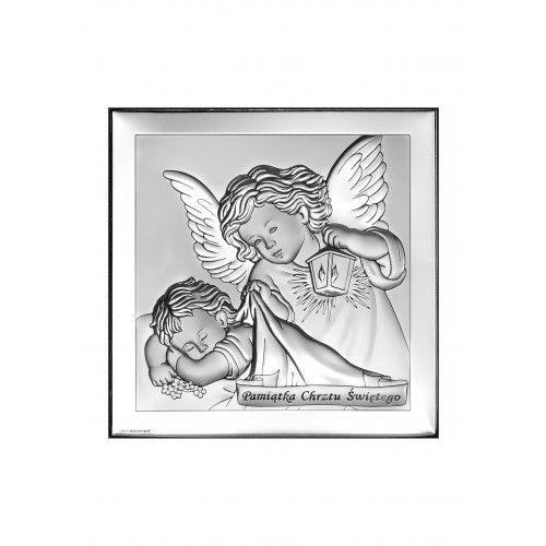 Obrazek srebrny  Aniołek z latarenką 6430/3