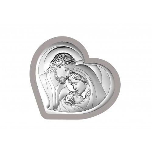 Obrazek srebrny  Święta Rodzina 6432/3W