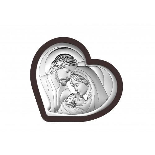 Obrazek srebrny  Święta Rodzina 6432/1WM