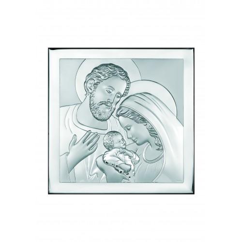 Obrazek srebrny  Święta Rodzina 6435/3, 16x16
