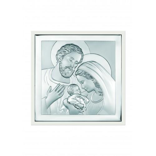 Obrazek srebrny  Święta Rodzina 6435/2W, 10x10