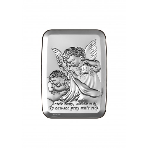 Obrazek srebrny  Aniołek z latarenką 6441/2