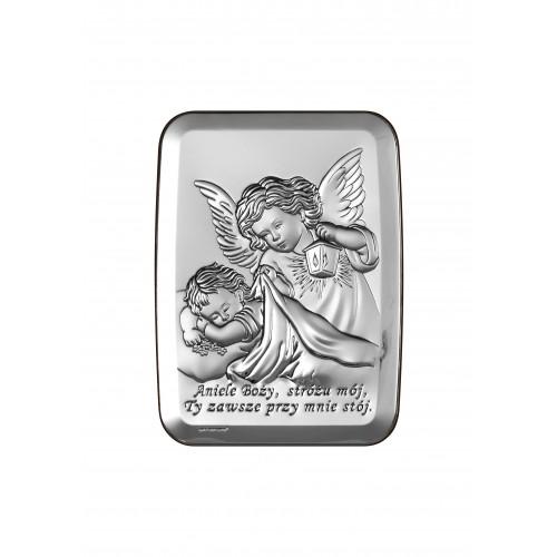 Obrazek srebrny  Aniołek z latarenką 6441/3