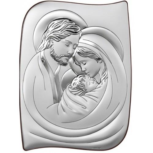 Obrazek srebrny  Święta Rodzina 6466/5, 19x25