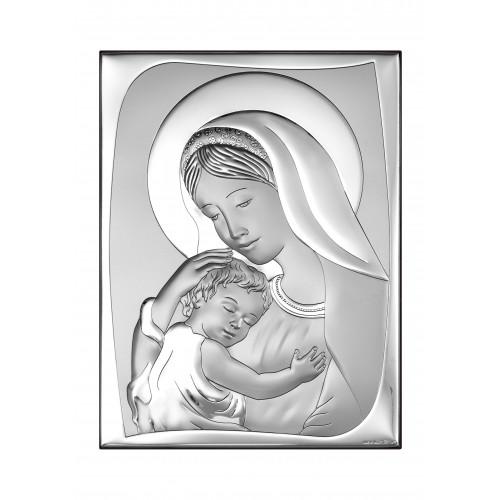 Obrazek srebrny Madonna z dzieciątkiem 6546/5, 18x24