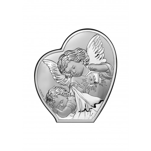Obrazek srebrny Pamiątka Chrztu Świętego 6591/2, 9x10