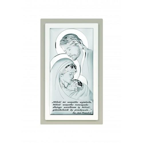 Obrazek srebrny Święta Rodzina Z NAPISEM 6380S/5TP