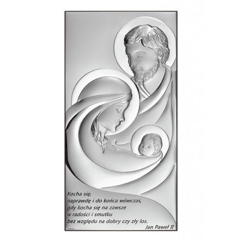 Obrazek srebrny Święta Rodzina Z NAPISEM 6679S/3