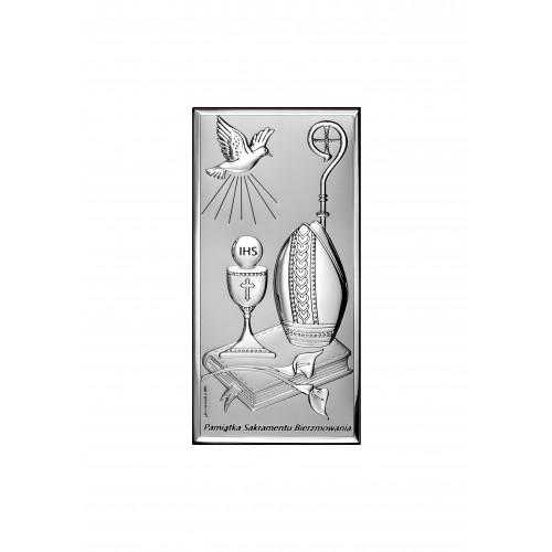 Obrazek srebrny Pamiątka Bierzmowania 6682S/2