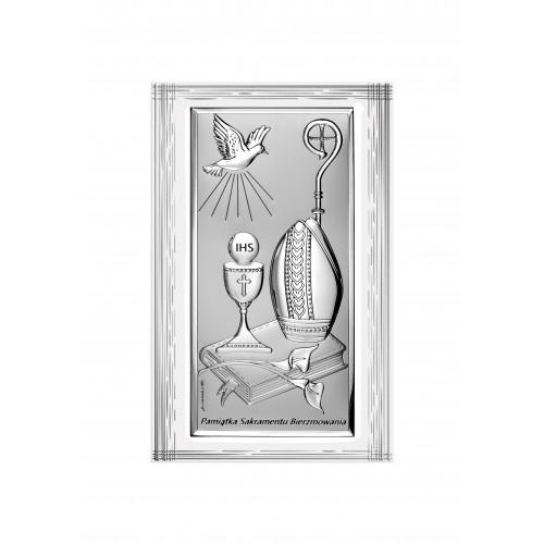 Obrazek srebrny Pamiątka Bierzmowania 6682SF/2X