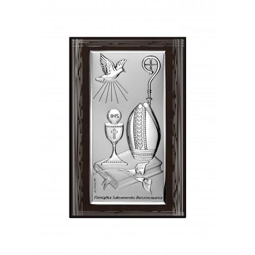 Obrazek Pamiątka Bierzmowania - CIEMNY PANEL 6682SFB/2X, 14x21 @