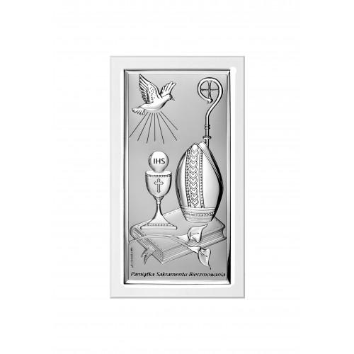 Obrazek srebrny Pamiątka Bierzmowania 6682S/2XW
