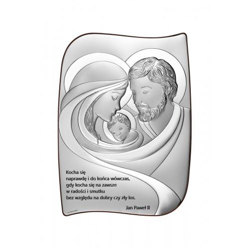 Obrazek srebrny Święta Rodzina Z NAPISEM 6724/2