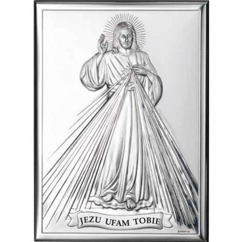 Obrazek srebrny  Jezu Ufam Tobie 80001 3