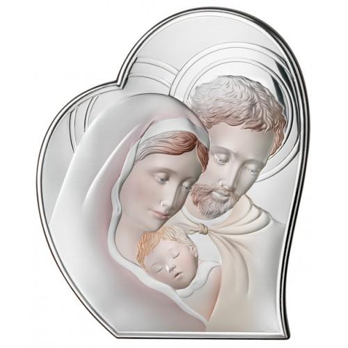 Obrazek srebrny  Święta Rodzina 81050/5COL, 27x33
