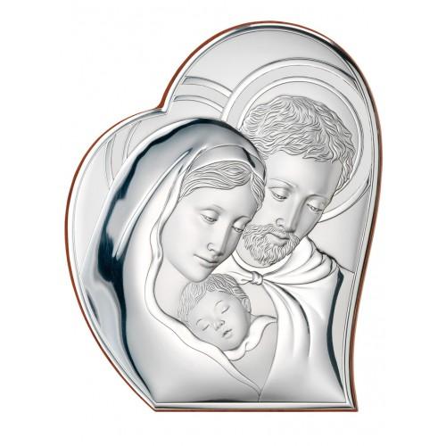 Obrazek srebrny  Święta Rodzina 81050/1, 9x11