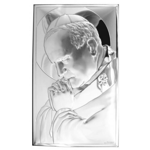 Obrazek srebrny Papież Święty Jan Paweł II 81234/3XL