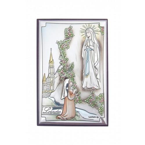 Obrazek srebrny Matka Boża Z Lourdes 81246/3COL