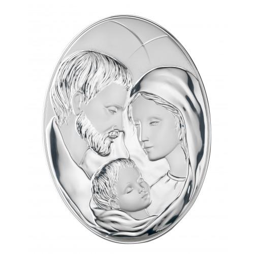 Obrazek srebrny  Święta Rodzina 95662, 10x14