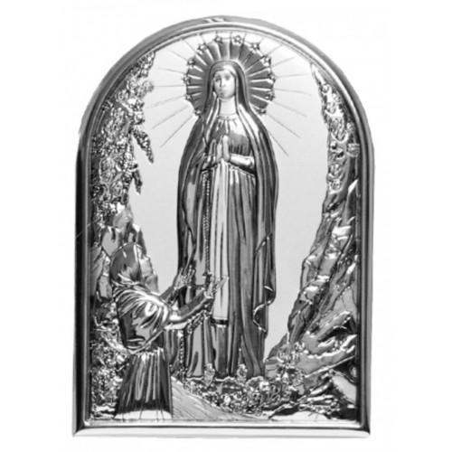 Obrazek srebrny Matka Boża z Lourdes 959612