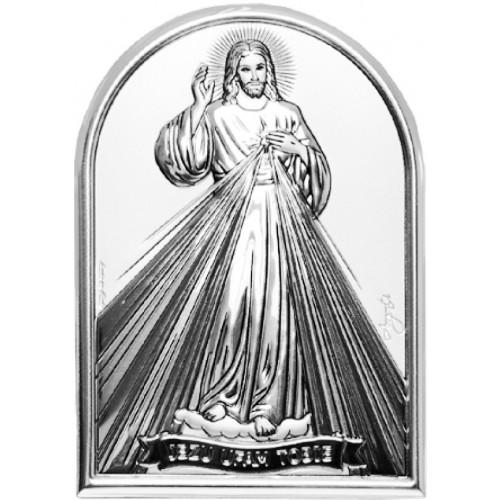 Obrazek srebrny  Jezu Ufam Tobie 95960