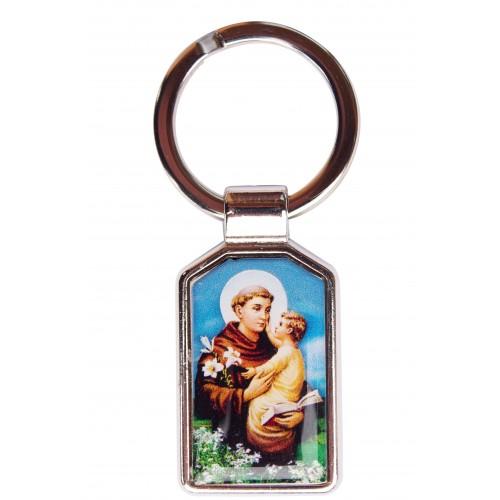 Brelok dwustronny Święty Antoni / Święty Krzysztof C100/STA81ANT