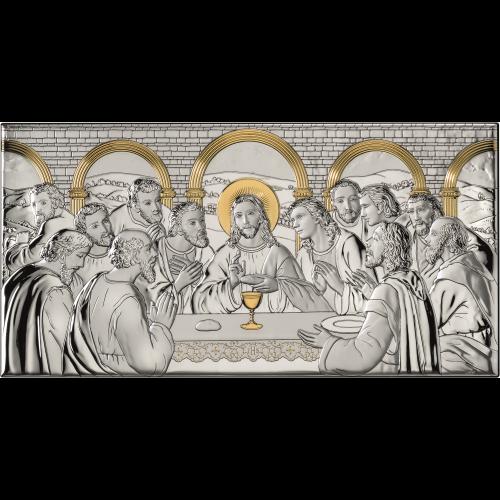 Obrazek srebrny Ostatnia Wieczerza AE0290/2ORO