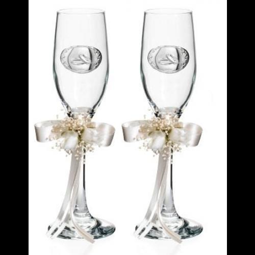 Zestaw kieliszków do szampana Ślub AE0680 2 szt., 22cm