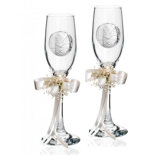 Zestaw kieliszków do szampana Ślub AE0686 2 szt., 22cm