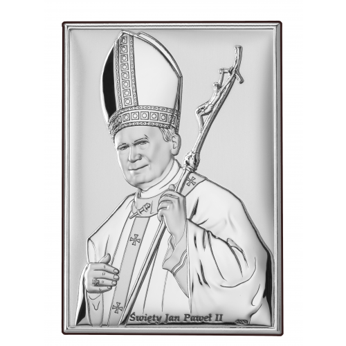 Obrazek srebrny  Święty Jan Paweł II DS16/1