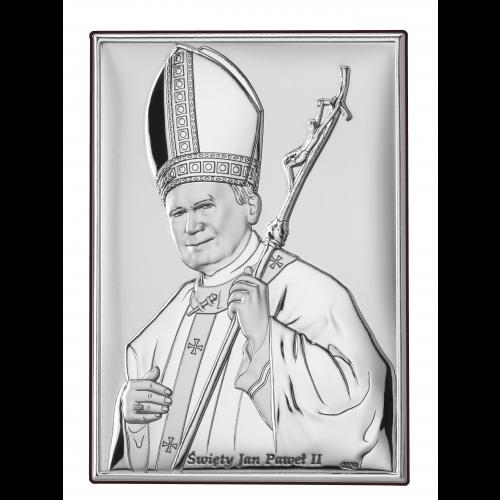 Obrazek srebrny  Święty Jan Paweł II DS16/2
