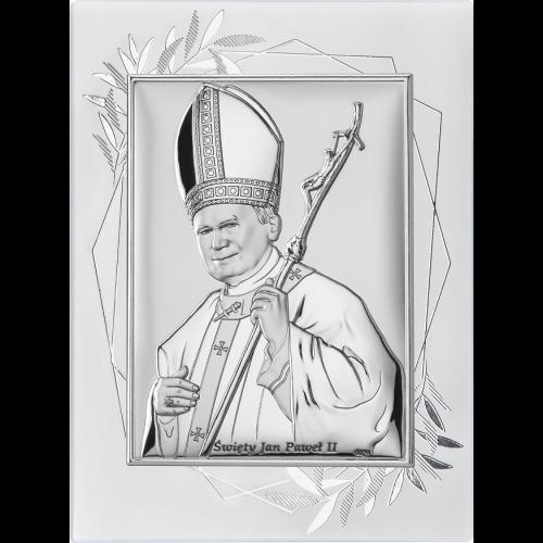 Obrazek Święty Jan Paweł II NA OZDOBNYM PANELU DS16FO/2, 15x20 @