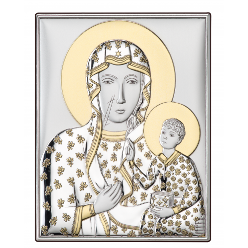 Srebrny obrazek Matka Boska Częstochowska  DS19/1O