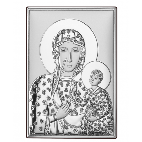 Srebrny obrazek Matka Boska Częstochowska DS19/1