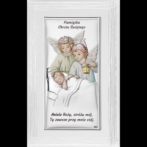 Obrazek Pamiątka Chrztu Świętego NA OZDOBNYM PANELU DS21F/2C, 12x19 @