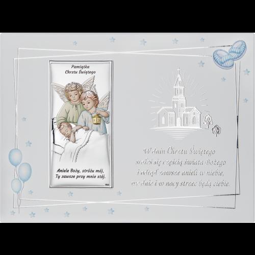 Obrazek Pamiątka Chrztu Świętego NA OZDOBNYM PANELU DS21FCC/2C, 20x15 @