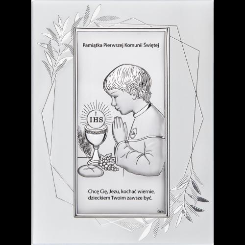 Obrazek Pamiątka Pierwszej Komunii Świętej NA OZDOBNYM PANELU DS30FO/2O, 15x20 @