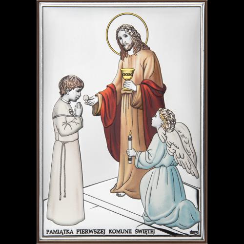 Obrazek Pamiątka Pierwszej Komunii Świętej - KOLOROWY DS31/3CO, 13x18 @
