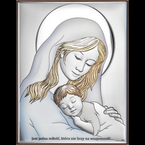 Obrazek Madonna z dzieciątkiem KOLOROWY DS38/4C, 19x23 @