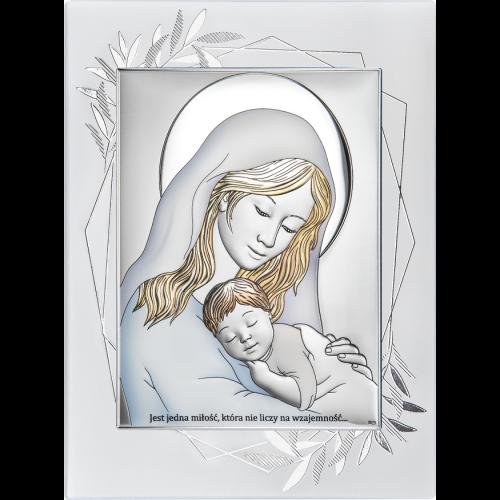 Obrazek Madonna z dzieciątkiem NA OZDOBNYM PANELU DS38FO/2C, 15x20 @
