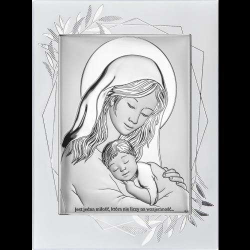 Obrazek Madonna z dzieciątkiem NA OZDOBNYM PANELU DS38FO/2, 15x20 @