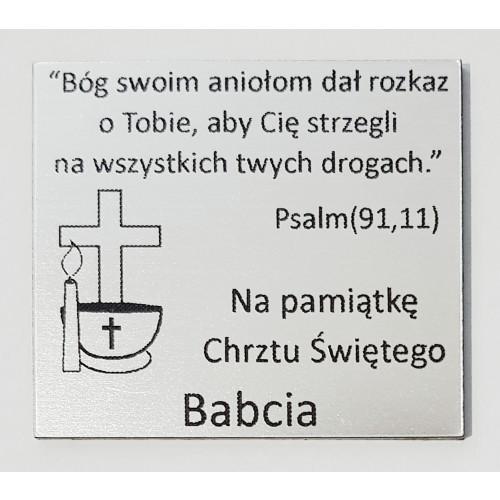 Grawer Pamiątka Chrztu Świętego GR1D, 6x4