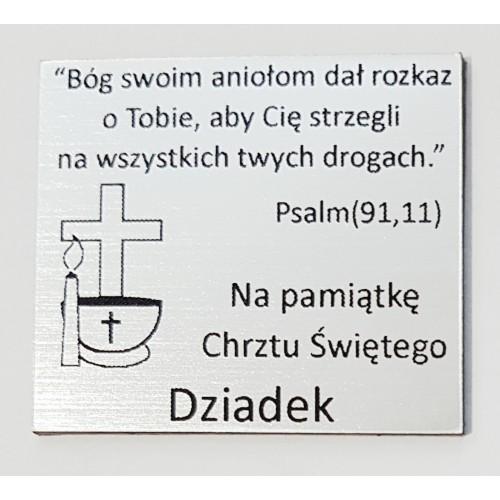 Grawer Pamiątka Chrztu Świętego GR1E, 6x4