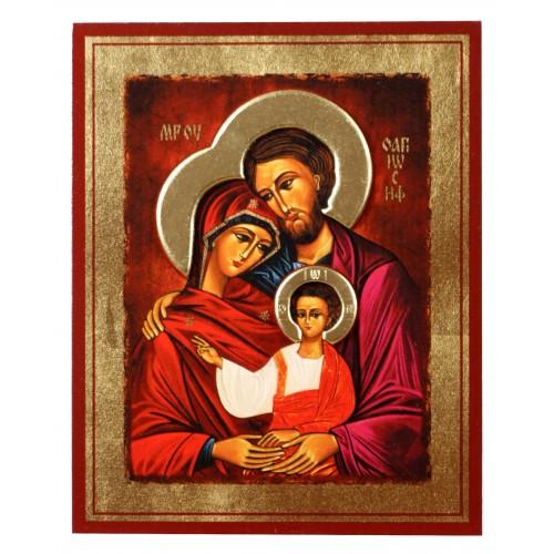 Ikona Złocona z nimbem Święta Rodzina IK D-02/N