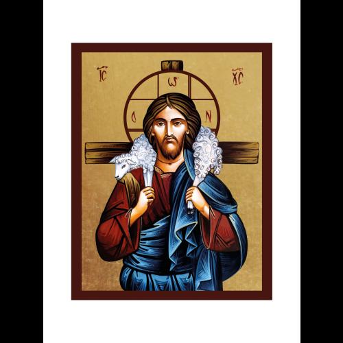 Ikona Złocona Chrystus Dobry Pasterz IK1B-06SZ